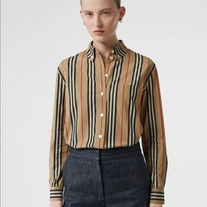 Burberry stripe cotton shirt US size 4